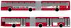Vista lateral en los autobuses urbanos